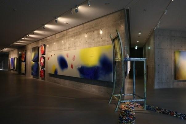 Ando16 霧峰-亞洲現代美術館(亞洲大學內) 大師就是大師 安藤忠雄 清水模三角形與光 大破大立展覽吸引人
