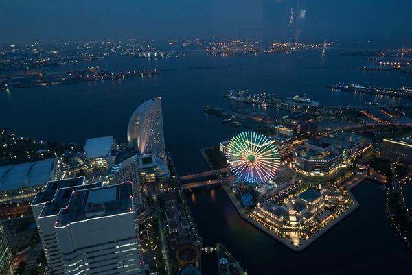 DSC05234 Yokohama-來地標Landmark大樓 賞橫濱港夜景