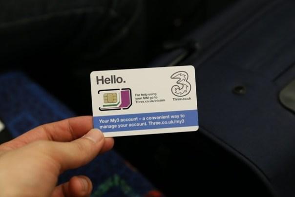 SIM35 London-倫敦預付卡3 Telecom Pay As You Go有網路語音旅遊更便利