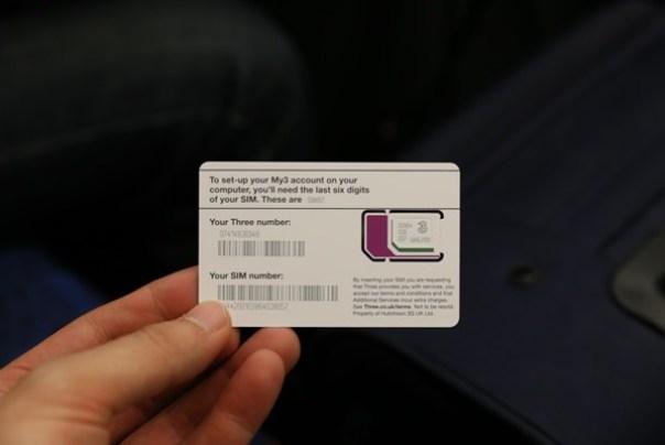 SIM36 London-倫敦預付卡3 Telecom Pay As You Go有網路語音旅遊更便利