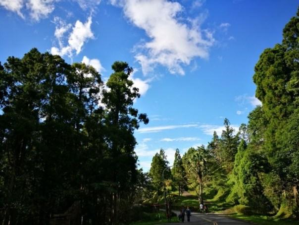dongyen02 復興-東眼山 藍天白雲青山綠樹...景色壯觀視野開闊...還有美麗的彩虹