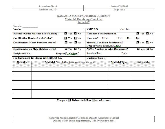 Warehouse receiving log template pictures to pin on for Building materials that start with i