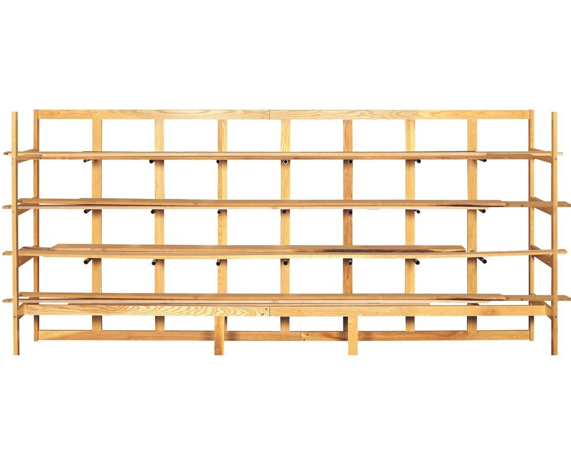 wood lumber storage rack