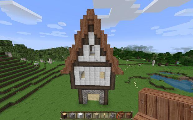 Comment Construire Une Maison Medievale Dans Minecraft Etape 8 Faire Le Toit Fantaisie Tubefr Com