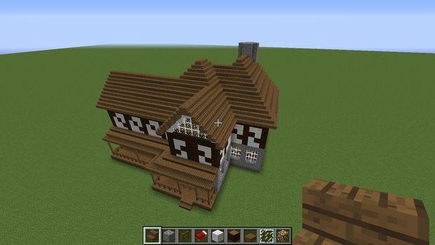 Maison A Colombages De Minecraft Etape 4 Le Toit Tubefr Com