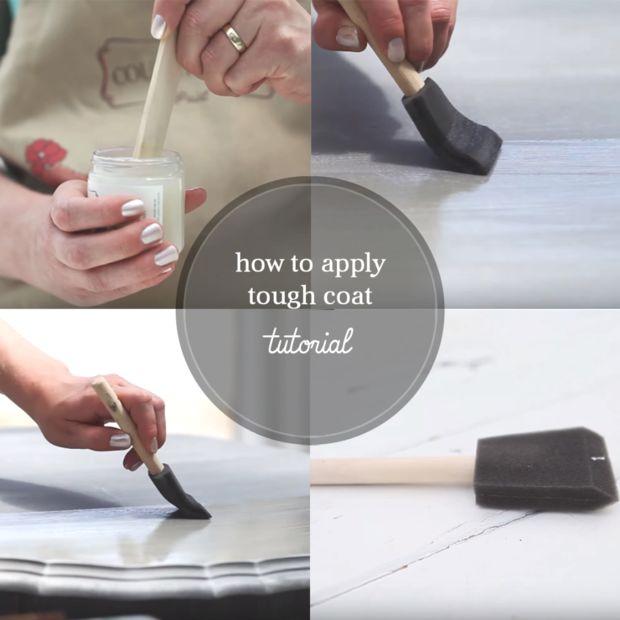 comment finir le dessus de table peint