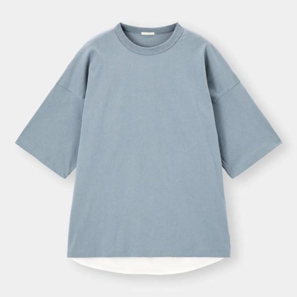 レイヤードビッグT(5分袖)Q-BLUE