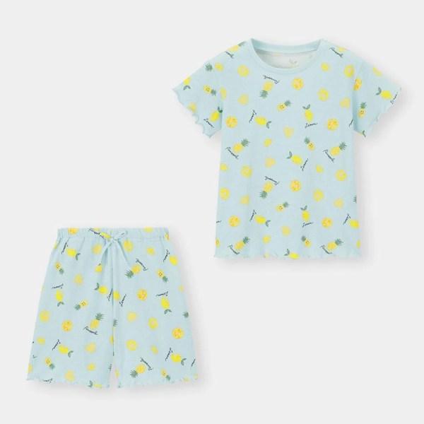 GIRLSラウンジセット(半袖)(フルーツ)-LIGHT BLUE