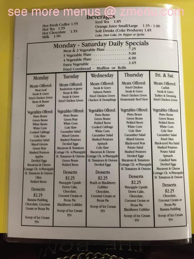 Lunch House Knoxville Tn Menu