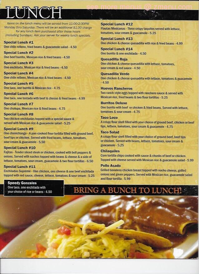 Online Menu Of Yucatan Mexican Restaurant Restaurant