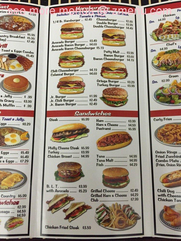 Online Menu of Tam's Burgers Restaurant, Rialto ...