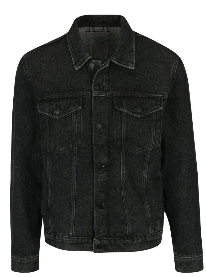 Tmav? šedá pánská džínová bunda Calvin Klein Jeans Stark