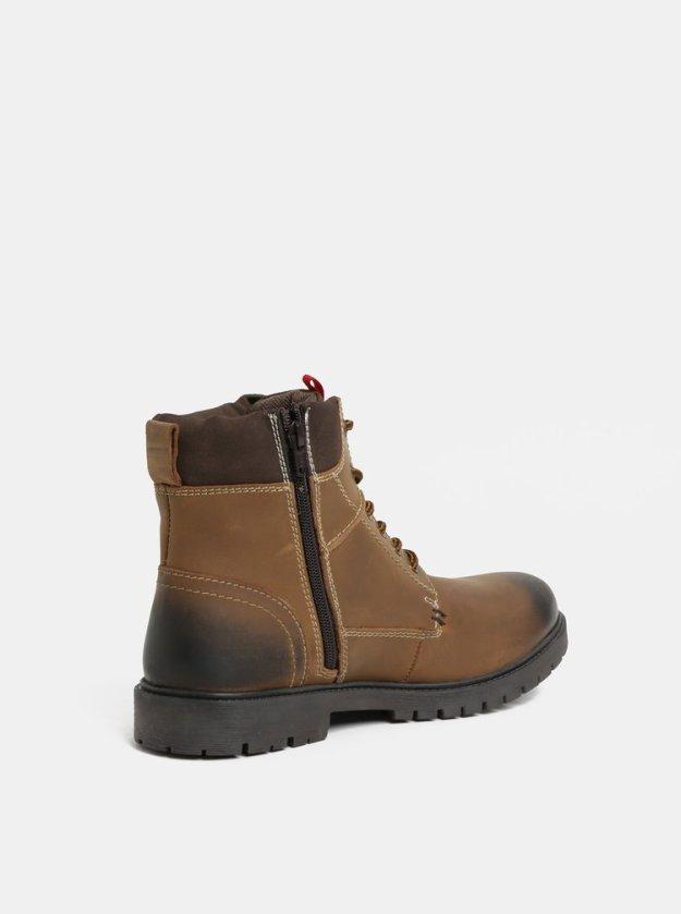 Hnědé pánské kožené kotníkové zimní boty s.Oliver (472778) od ZOOT 41cf5b0e825