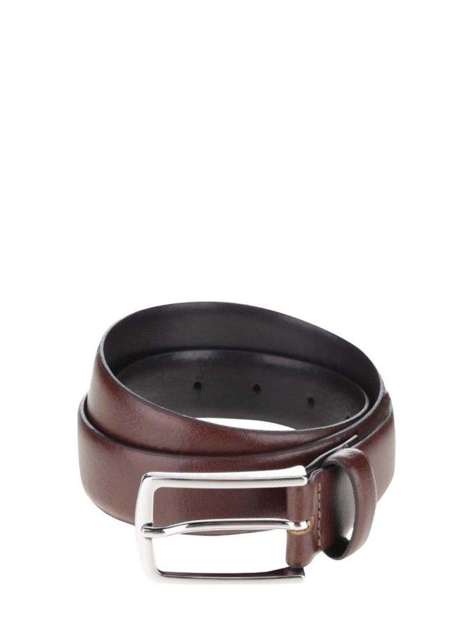 Hnědý kožený pásek Jack & Jones Premium Chris