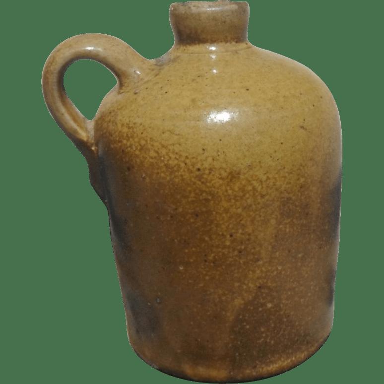 Texas Meyer Pottery Stoneware Jug Rare Quart Size Leon Slip Glaze From Texashillcountrytreasures