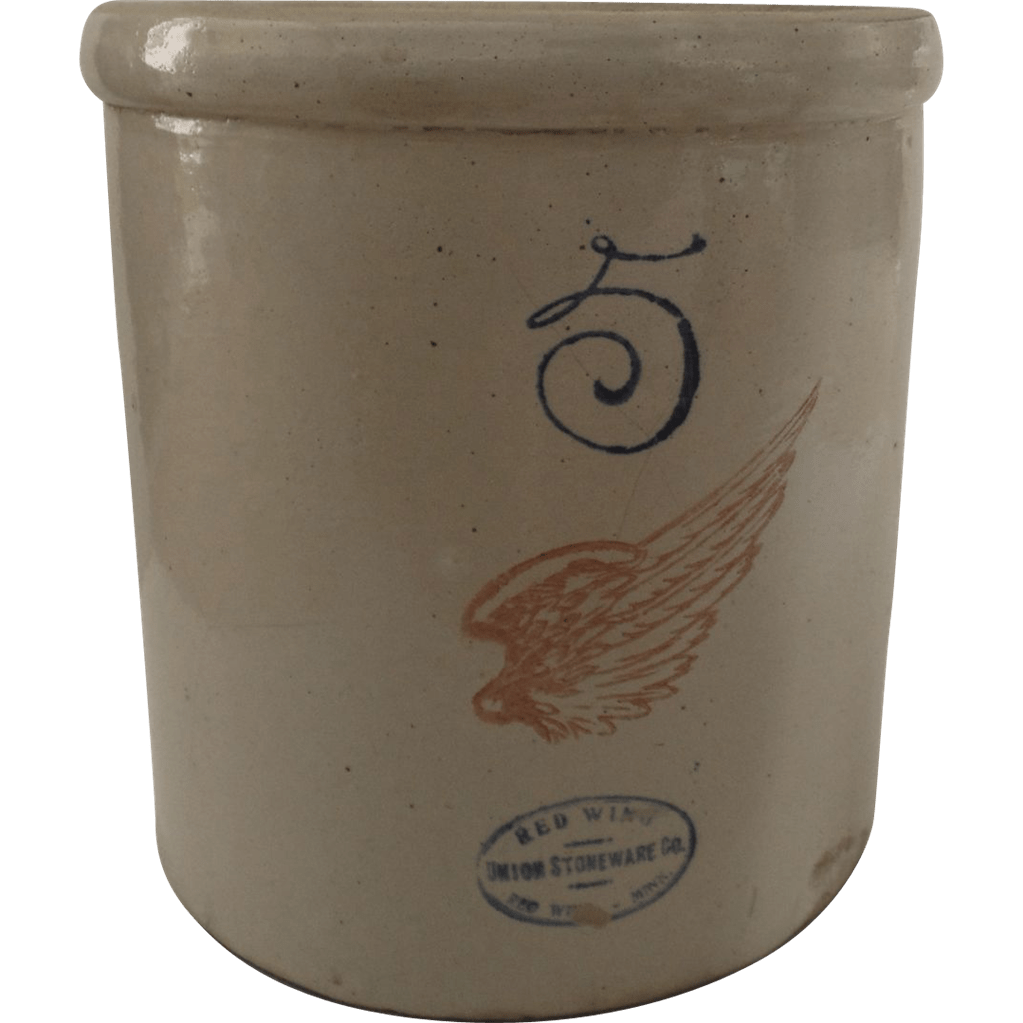 Red Wing Crock 5 Gallon With Lid Cover From Blacktulip On