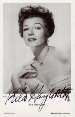 Rita Hayworth Autograph