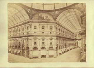 Antique Photo Galleria Vittorio Emanuele II in Milan Italy