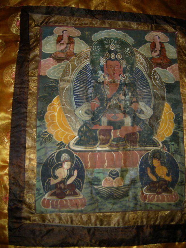 Old Tibetan Buddhist Thangka Buddha Art From Antiques