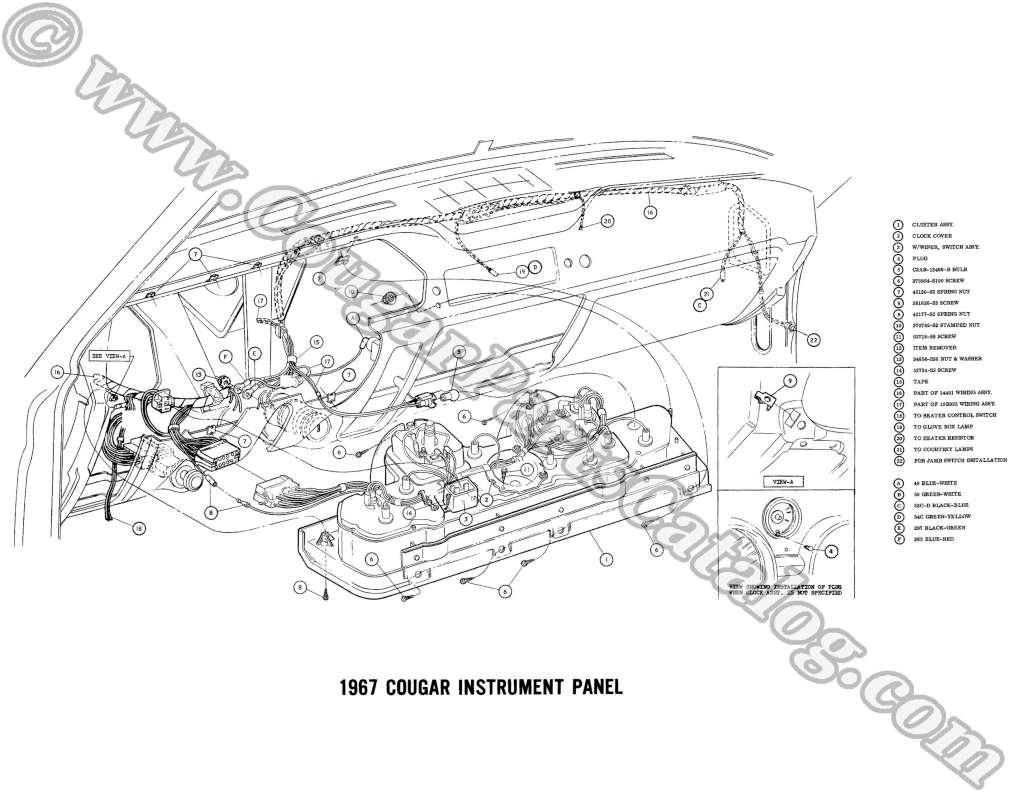 67 cougar wiring schematic 67 cougar ignition switch