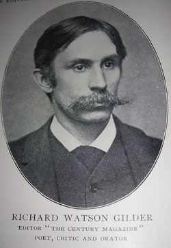 Richard Watson Gilder (1844-1909), editor of the Century Magazine, NY [http://image1.findagrave.com]