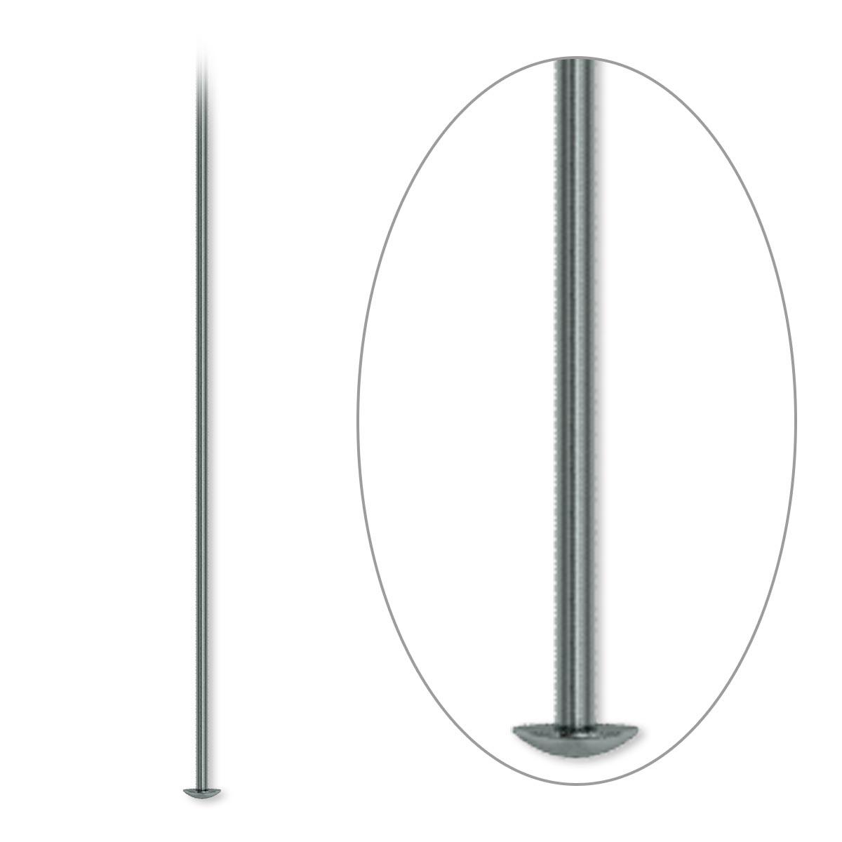 Head Pin Gunmetal Plated Brass 4 Inch 21 Gauge Sold