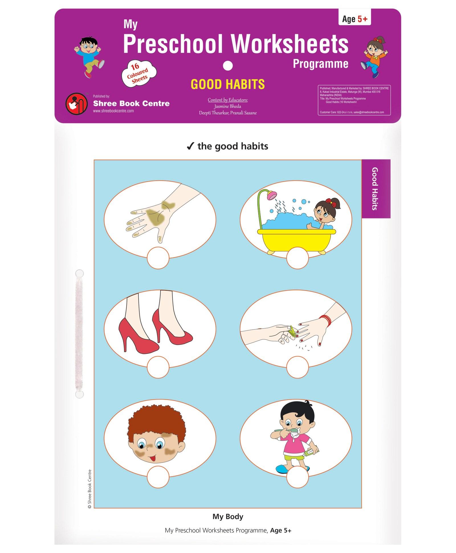My Preschool Worksheets Good Habits Level 3 Age 5