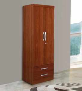 Mitsue Two Door Wardrobe In Teak Finish By Mintwud   Bedroom   Sagar     Mitsue Two Door Wardrobe In Teak Finish By Mintwud