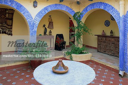 Interior patio in a house in Andalucia  Andalusia   Spain  Europe     Interior patio in a house in Andalucia  Andalusia   Spain  Europe   Stock