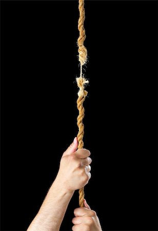 Image result for holding on to rope that is breaking