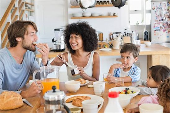 Family breakfast Stock Photos - Page 1 : Masterfile
