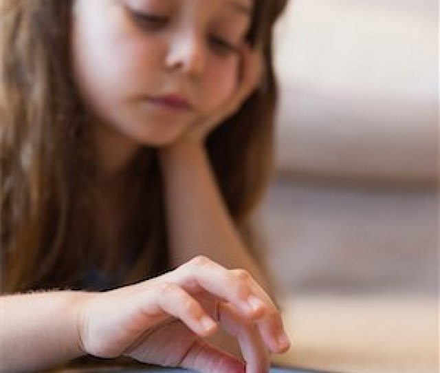 Pictures Of Girls Fingering Close Up Of A Little Girl Using Digital Tablet Stock