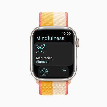 「正念」app 顯示於 Apple Watch Series 7。