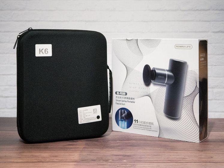 雙色USB筋膜按摩槍K6 及 REMAXLIFE便攜按摩槍(RL-PC09)