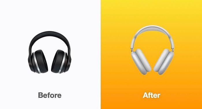 耳機符號改成 Apple 最新產品 AirPods Max