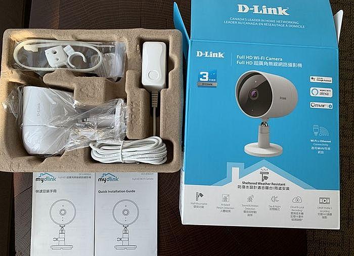 D-Link DCS-8302LH 防潑水AI超廣角攝影機開箱