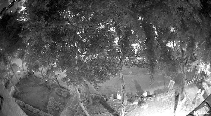 夜間模式下的影像