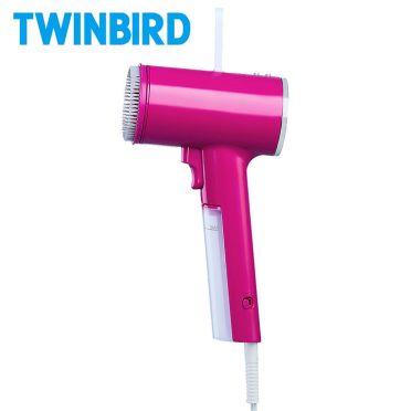 日本TWINBIRD-高溫抗菌除臭美型蒸氣掛燙機(桃紅)TB-G006TWP