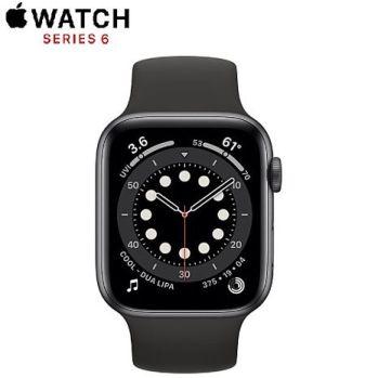 Apple Watch Series 6 GPS版 40mm 太空灰鋁金屬錶殼配黑色運動錶帶