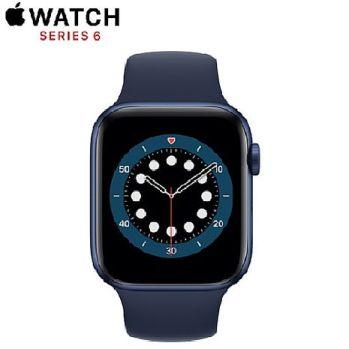 Apple Watch Series6 GPS+LTE版 40mm藍色鋁金屬錶殼配藍色運動錶帶