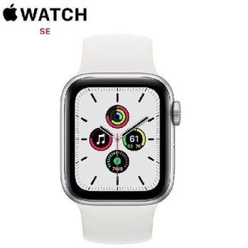 Apple Watch SE GPS 版 40mm 銀色鋁金屬錶殼配白色運動錶帶