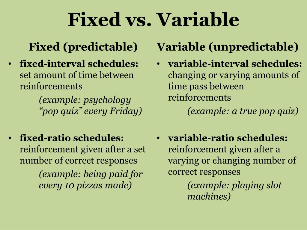 What Is An Example Of A Variable Interval Schedule Of
