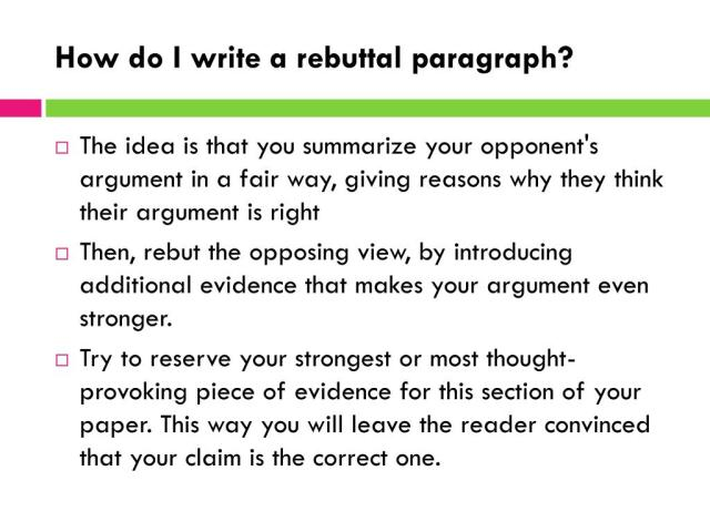 PPT - Writing Rebuttals PowerPoint Presentation, free download