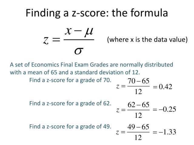 PPT - Calculating Z-scores PowerPoint Presentation, free download