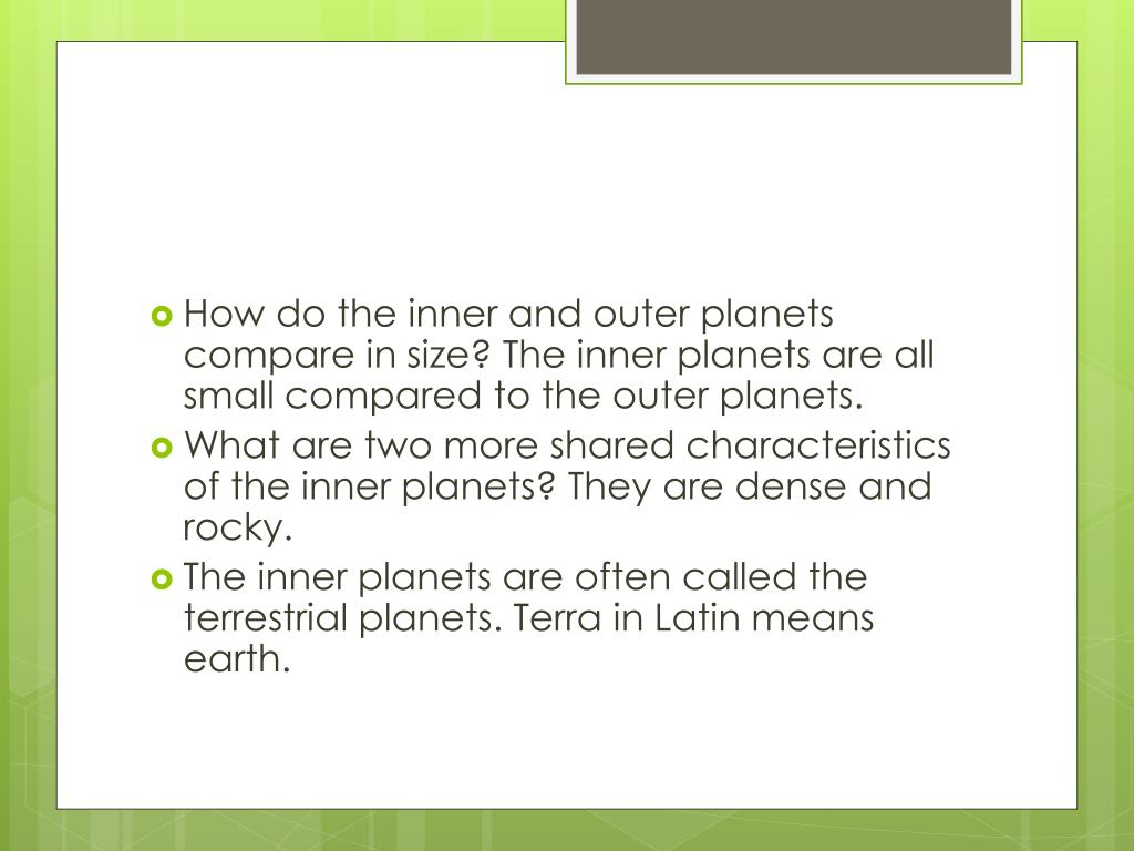 Inner And Outer Planets Venn Diagram