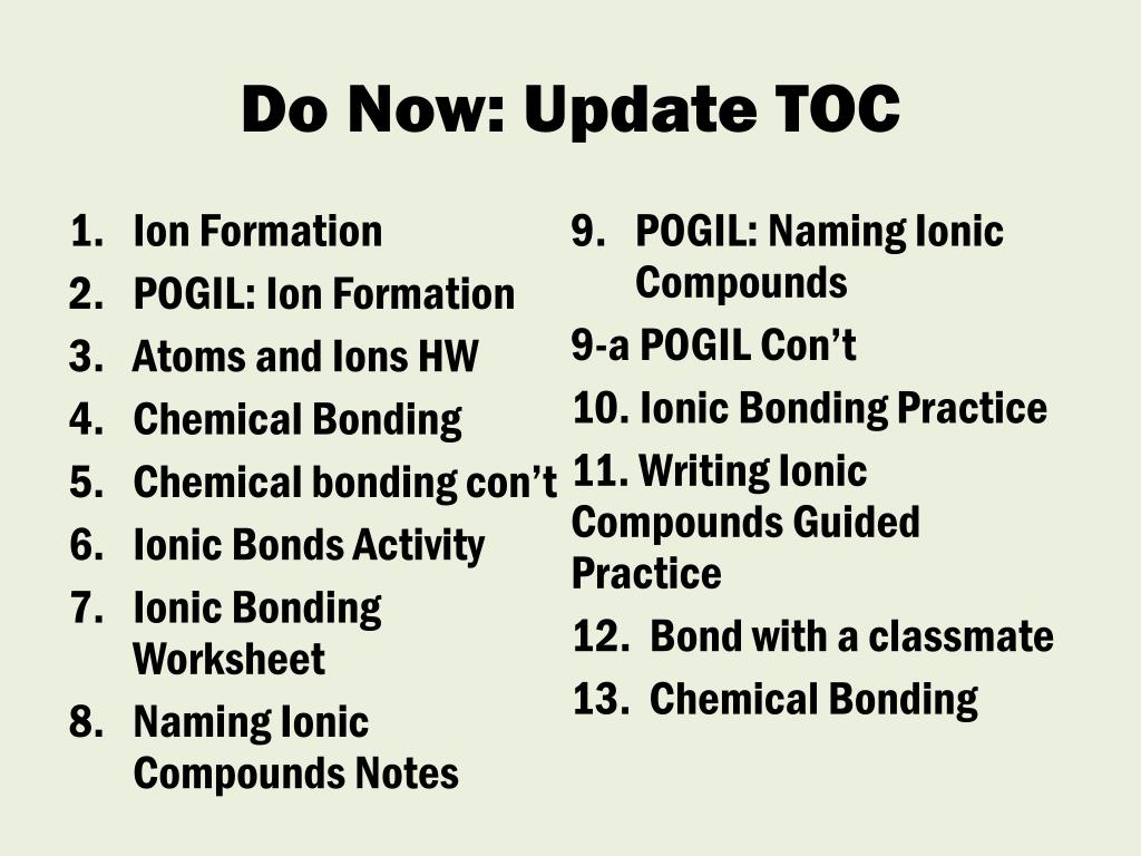 Naming Ionic Compounds Worksheet Answers Pogil