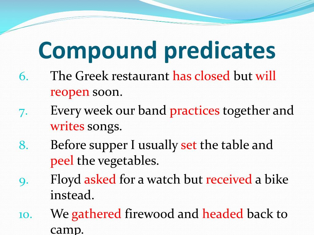 What Is A Compound Predicate