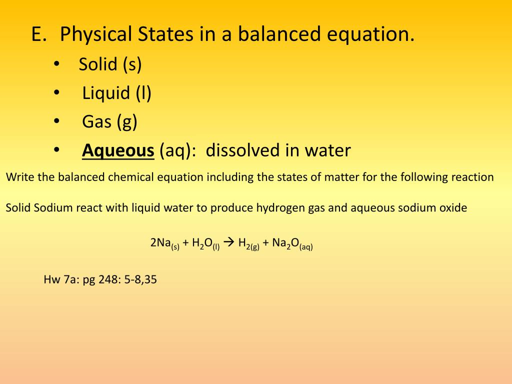 Spice Of Lyfe Chemical Equation Balancer With States Of