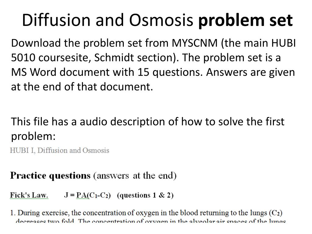 Osmosis Application Questions