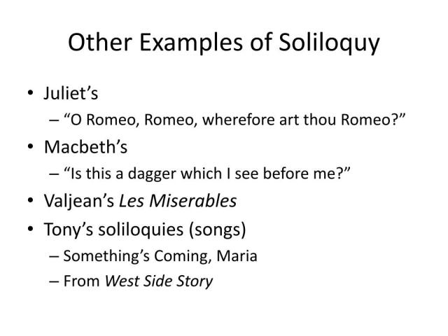 What Does Soliloquy Mean In English